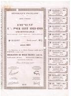Titre Ancien - République Française - Dette Publique - Emprunt 4 1/2 % - 1933-1948 Amortissable - Titre De 1000 Francs - - Actions & Titres