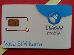 SLOVAKIA SIM GSM TESCO MOBILE Cut Chip - Numbers Front USIM RARE MINT (BH1219b - Slowakei