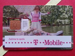 SLOVAKIA SIM GSM T MOBILE Girl Cut Chip - Numbers Front USIM RARE MINT (BH1219b - Slowakei