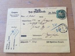 KS2 Württemberg Ganzsache Stationery Entier Postal PKT 1 Formularverwendung - Wurtemberg