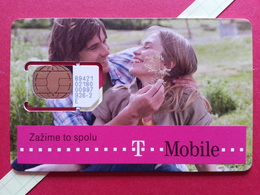 SLOVAKIA SIM GSM T MOBILE Zazime Cut Chip - Numbers Front USIM RARE MINT (BH1219b - Slowakei