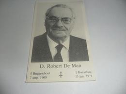 Doodsprentje Roeselare Ere Burgemeester D.robert De Man - Religion & Esotérisme