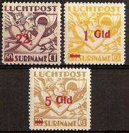 Suriname NVPH Nr Luchtpost 24/26 Postfris/MNH Overdrukken, Airmail 1945 - Surinam ... - 1975