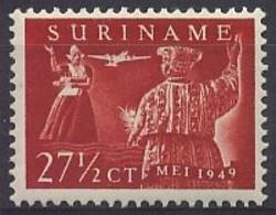 Suriname NVPH Nr Luchtpost 31 Postfris/MNH Eerste Vlucht Paramaribo - Amsterdam, Airmail 1949 - Surinam ... - 1975
