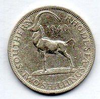 SOUTHERN RHODESIA, 2 Shillings, Silver, Year 1940, KM #19 - Rhodésie