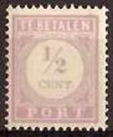 Suriname NVPH Nr Port 17 Postfris/MNH Cijfer En Waarde In Lila, Tax, Taxe 1913 - Surinam ... - 1975