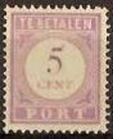 Suriname NVPH Nr Port 21 Postfris/MNH Cijfer En Waarde In Lila, Tax, Taxe 1913 - Surinam ... - 1975