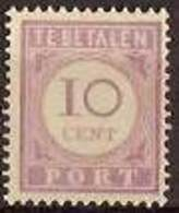 Suriname NVPH Nr Port 22 Postfris/MNH Cijfer En Waarde In Lila, Tax, Taxe 1913 - Surinam ... - 1975