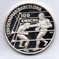 ZAMBIA, 100 Kwacha, Silver, Year 1992, KM #28 - Zambie