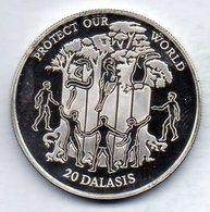 GAMBIA, 20 Dalasis, Silver, Year 1995, KM #41 - Gambia