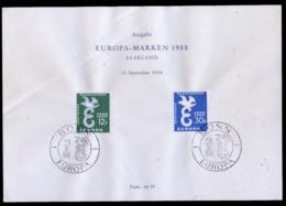 Sarre - Saarland Bloc Feuillet 1958 Y&T N°BF1 - Michel N°B(?) (o) - EUROPA - Blocs-feuillets
