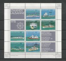 Switzerland 1978 Lemanex Philatelic Exhibition S/S Y.T. BF 23 ** - Blokken