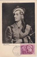 Carte Maximum  Littérature Hongrie Lord Byron - Cartes-maximum (CM)