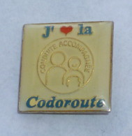 Pin's CONDUITE ACCOMPAGNEE, CODOROUTE - Badges