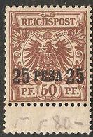 Deutsch Ost-Afrika 1893 German 25 Pesa On 50 Pf Stamp 2005.0226 German East Africa, Minor Hinge Mark, Small Overprint - Colonie: Afrique Orientale