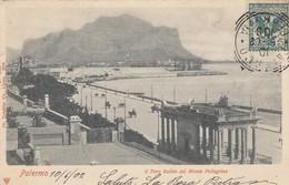PALERMO-IL FORO ITALICO COL MONTE PELLEGRINO CARTOLINA  VIAGGIATA IL 10-6-1902 - Palermo