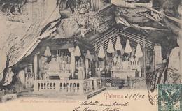 PALERMO-MONTE PELLEGRINO-SANTUARIO SANTA ROSALIA-CARTOLINA  VIAGGIATA IL 4-8-1902 - Palermo