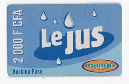 BURKINA-FASO RECHARGE MANGO LE JUS 2 000 FCFA Date 2005 - Burkina Faso