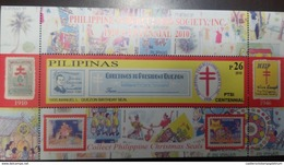 RJ) 2010 PHILIPPINES, TB SEALS COLLECTION CHRISTMAS SEALS, GREETING TO PRESIDENT QUEZON, XF ( Abril -2020) - Philippines