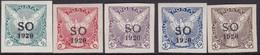 Eastern Silesia S.O. 1920 Sc P1-5 Mint Hinged - Nuovi