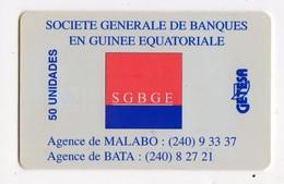 GUINEE EQUATORIALE TELECARTE GETESA REF MVCARDS EQG-22 SGBGE 50U - Guinée-Equatoriale