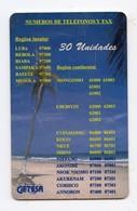 GUINEE EQUATORIALE  NUMEROS DE TELEFONOS Y FAX 30U Pas Référencé - Guinea Equatoriale