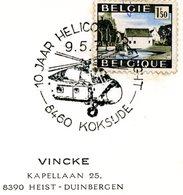 COB 1541: Avec Cachet Spécial Coxyde 9-5-1971 (cachet Hélicoptère) - Postmark Collection