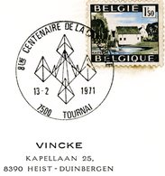 COB 1541: Avec Cachet Spécial Prévente Tournai 13-2-1971 (800 Ans De La Cathédrale) - Gefälligkeitsabstempelung
