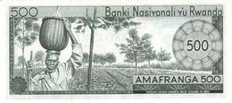 RWANDA P. 11a 500 R 1974 UNC - Rwanda