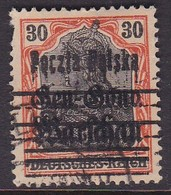 POLAND 1918 Fi 14 Double Print Used Pulled Perf - ....-1919 Übergangsregierung
