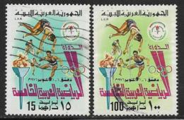 Libya Scott #627,628 Used Sports, 1976 - Libia