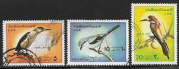 Libya Scott #607-8,610 Used Birds, 1976 - Libia