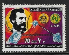 Libya Scott #601 Used Telephone Centenary, 1976 - Libia