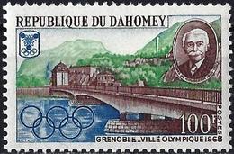 Dahomey 1967 - Mi 327 - YT 263 ( Bridge Of Grenoble, Olympic City ) MNH** - Bénin – Dahomey (1960-...)