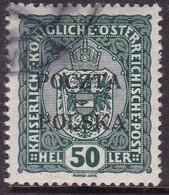 POLAND 1919 Krakow Ovpt Fi 41 Used Signed Petriuk I-16 - ....-1919 Übergangsregierung