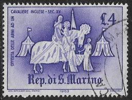 San Marino SG707 1963 Ancient Tournaments 4l Good/fine Used [40/33161/7D] - San Marino