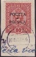 POLAND  1919 Krakow Fi 43 I-39 Used Signed Petriuk - ....-1919 Übergangsregierung