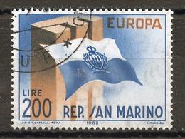 Saint Marin - San Marino 1963 Y&T N°604 - Michel N°781 (o) - 200l EUROPA - San Marino