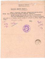 TELEGRAMME OFFICIEL / FEUILLE VOLANTE ACADEMIE ALLIER  MOULINS  =>  INSPECTEUR MONTLUCON DIRECTIVES NATIONALES SUR PORTE - 1921-1960: Periodo Moderno