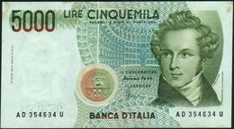 ITALY - ITALIA - 5.000 Lire 04.01.1985 {Vincenzo Bellini} VF- P.111 C - 5000 Lire