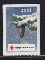 Norway 2001, Red Cross, Christmas - Vignetten (Erinnophilie)