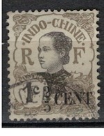 INDOCHINE        N°  YVERT   :   72    ( 7 )        OBLITERE       ( O B   6 / 36 ) - Used Stamps