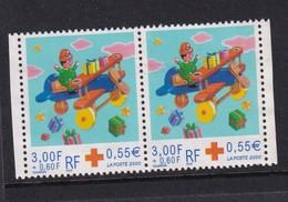 France 2000, Red Cross, Pair Minr 3502 Vfu - Gebraucht
