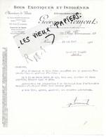 75 - Paris - PARIS-20e - Facture CLEMENT - Bois Exotiques Et Indigènes - 1927 - REF 150A - France