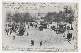 (RECTO / VERSO) LYON EN 1903 - N° 84 - LA PLACE CARNOT AVEC PERSONNAGES ET TRAMWAYS - BEAU CACHET - CPA PRECURSEUR - Lyon