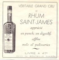 Orig. Knipsel Coupure Magazine - Pub Reclame - Rhum Saint James - 1949 - Publicités