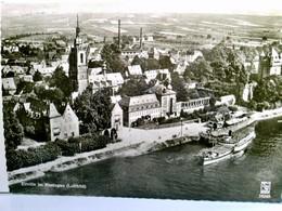 Eltville Im Rheingau. Luftbild. Alte AK S/w. Fliegeraufnahme, Panoramablick über Die Stadt, Rhein, Ausflugssch - Allemagne