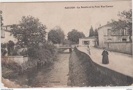 SAUJON LA SEUDRE ET LE PONT RUE CARNOT 1918 - Saujon
