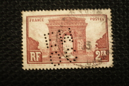 Perfin Lochung France N°258  Perforé OCEM11 Chemin De Fer - France