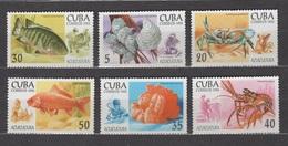 Cuba 1994 Kuba Mi 3749-3754 Marine Life. Aquaculture. Fish. Coral / Aquakultur **/MNH - Vie Marine